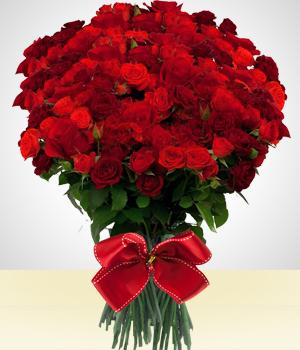 Ramo de 100 rosas 7 envia flores y regalos en tijuana - Ramos de flores grandes ...