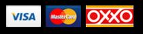 Procesamos tu pedido de flores con pagos en oxxo o con PayPal, Visa o Mastercard