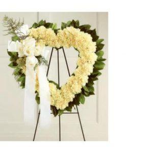 hermoso corazon de claveles tamano mediano  800 pesos